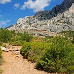 Sainte Victoire mountain, trail by Josiane D. - St. Antonin sur Bayon 13100 Bouches-du-Rhône Provence France