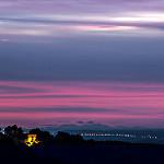 Ciel Coloré et Canigou au loin vu de la Chaberte par bruno carrias - St. Esteve Janson 13610 Bouches-du-Rhône Provence France