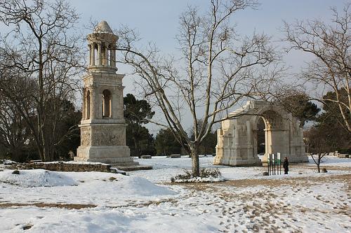 Glanum sous la neige par Cilions