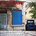Bleu provence : volet et deux chevaux by Boccalupo - St. Rémy de Provence 13210 Bouches-du-Rhône Provence France