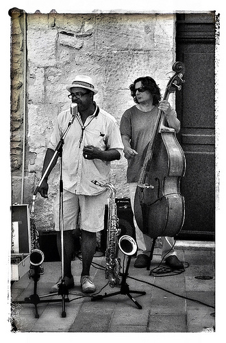 Artistes de rue - musiciens by Spirit of color