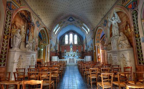 Intérieur de l'église d'Aiguèze par deltaremi30