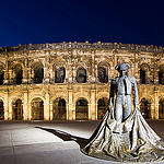 Arena of Nîmes by night by  - Nîmes 30000 Gard Provence France