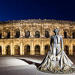 Arena of Nîmes by night by  - Nîmes 30000 Gard Provence France