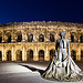 Arena of Nmes by night by  - Nmes 30000 Gard Provence France