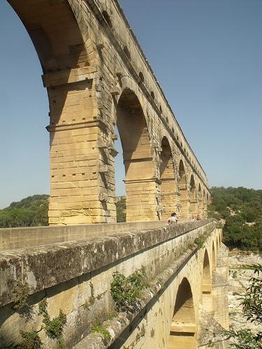 Pont du Gard Arches by george.f.lowe