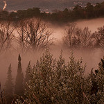 Brume sur l'Alzon by  - Uzs 30700 Gard Provence France