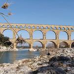 Le Pont du Gard et le Gardon  par salva1745 - Vers-Pont-du-Gard 30210 Gard Provence France