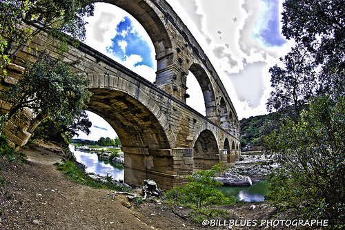 Pont du Gard en fish eye par Billblues