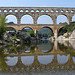 Pont du Gard en mirroir by Alexandre Santerne - Vers-Pont-du-Gard 30210 Gard Provence France