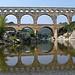 Pont du Gard en mirroir par lepustimidus - Vers-Pont-du-Gard 30210 Gard Provence France