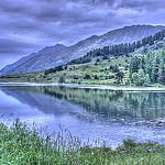 Lac de Barbeyroux, douceurs en bleu et vert par  -   Hautes-Alpes Provence France
