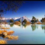 Reflets sur le Petit lac de Saint-Appolinaire by Patchok34 - St. Apollinaire 05160 Hautes-Alpes Provence France