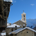 Saint-Véran sous la neige par  - Saint-Véran  05350 Hautes-Alpes Provence France