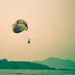 Parachute ascensionnel sur la côte par Macré stéphane - Bandol 83150 Var Provence France