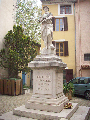 Monument aux morts, Belgentier, Var. by Only Tradition