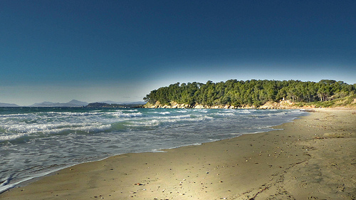 Plage de Brégançon : sable, mer... par mary maa
