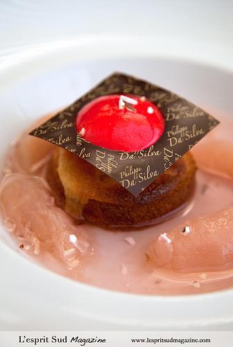 Les Georges de Pennafort - Dessert: Dôme glacé à la pêche et amande by Belles Images by Sandra A.