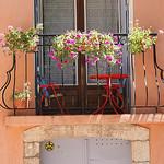 Balcon fleuri à Carcès dans le Var par Elisabeth85 - Carces 83570 Var Provence France