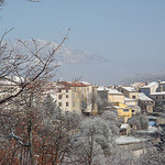le village de Comps sous la neige par csibon43 - Comps sur Artuby 83840 Var Provence France