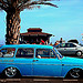 Blue car on azur coast by JM5646 - Fréjus 83600 Var Provence France