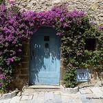 Porte ancienne fleurie par Niouz - Grimaud 83310 Var Provence France