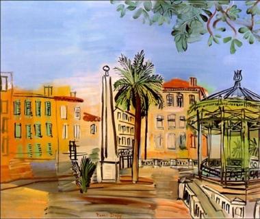 Raoul Dufy (1877-1953). La place d'Hyères. Hyères, Var. par Only Tradition