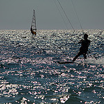 Kite Surf et Wind surf dans le Golfe de Giens par Babaou - Hyères 83400 Var Provence France