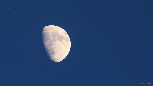 La lune vu de Provence par Babaou