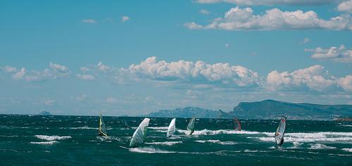 Mistral et Mer de surfeur par Macré stéphane