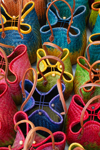 Baskets - at the market by Elisabeth85 {Way too busy}