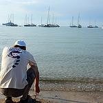 Bâteau au mouillage - Île de Porquerolles par Carine.C - Porquerolles 83400 Var Provence France