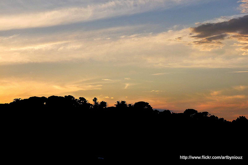 Coucher de soleil sur Ramatuelle by Niouz