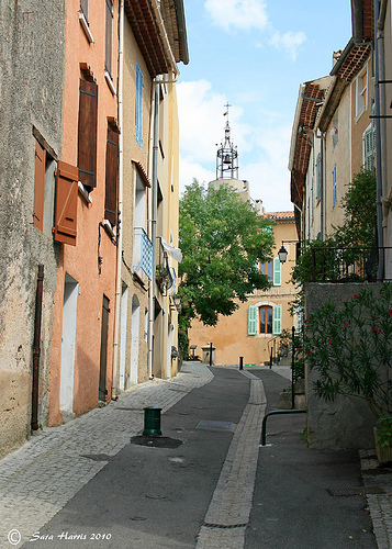 Up The Street, Regusse, Provence by saraharris.sh64