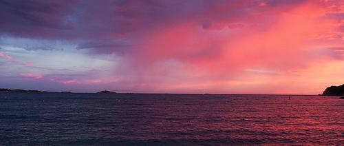 Ciel rose de Sanary-sur-Mer by Macré stéphane