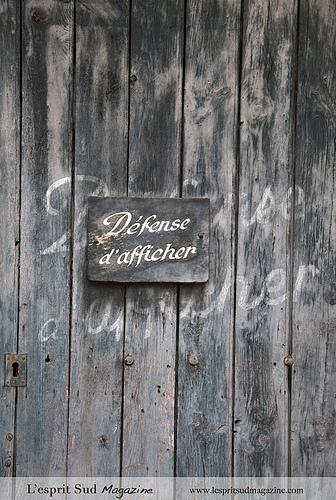 Vintage Sign - Défense d'afficher par Belles Images by Sandra A.