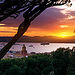 Coucher de soleil sur Saint-Tropez par R.G. Photographe - St. Tropez 83990 Var Provence France