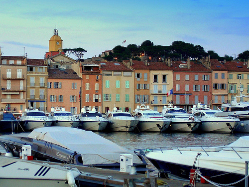 Port bien rempli de Saint-Tropez par krissdefremicourt