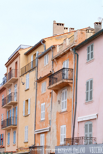 Saint Tropez old town by Belles Images by Sandra A.