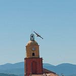 le Clocher de Saint-Tropez et un canadair by  - St. Tropez 83990 Var Provence France