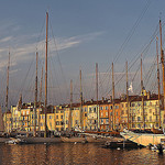 Coucher de soleil sur le port de Saint Tropez by  - St. Tropez 83990 Var Provence France