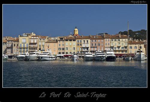 Le port et la ville de Saint-Tropez par DamDuSud
