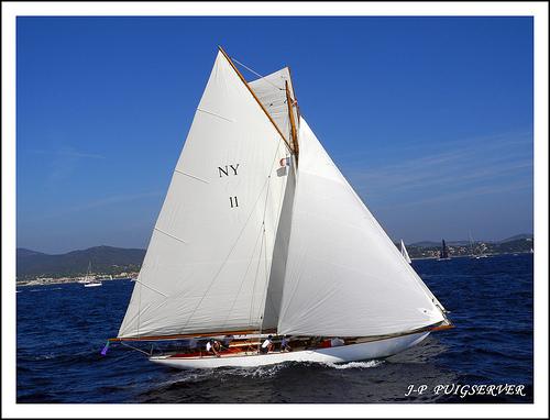 Les régates de Saint-Tropez : voilier de tradition par PUIGSERVER JEAN PIERRE