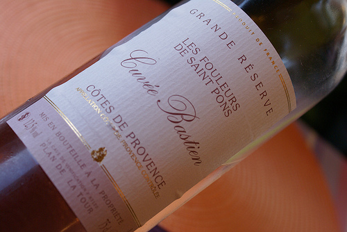 Côtes de Provence : Cuvée Bastien par Elisabeth85