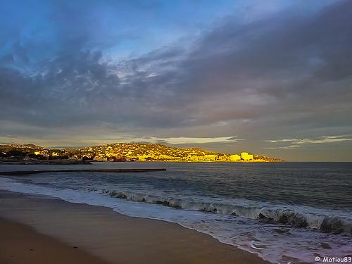 Coucher de soleil précis sur Ste Maxime by Matiou83