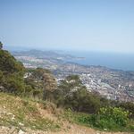 Vue sur Toulon, jusqu'aux îles d'Hyères. Mont Faron, Toulon. by  - Toulon 83000 Var Provence France