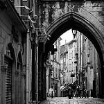 Apt - rue des marchands au pied de la tour de l'horloge by  - Apt 84400 Vaucluse Provence France