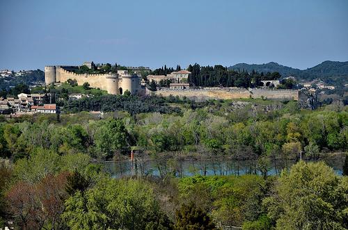 Muraille de Villeneuve lez Avignon vue du rocher des Doms by christian.man12