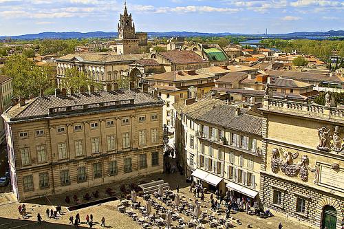 Avignon, place du palais des papes et les toits d'Avignon by avz173
