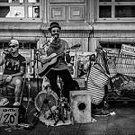 Festival d'Avignon 2016 - musique de rue par Rémi Avignon - Avignon 84000 Vaucluse Provence France